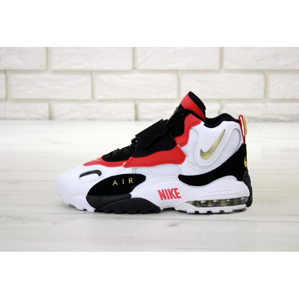 Демисезонные кроссовки мужские   - Мужские кроссовки Air Max Speed Turf черно-бело-красные 1