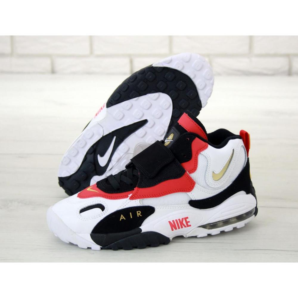 Демисезонные кроссовки мужские   - Мужские кроссовки Air Max Speed Turf черно-бело-красные 3