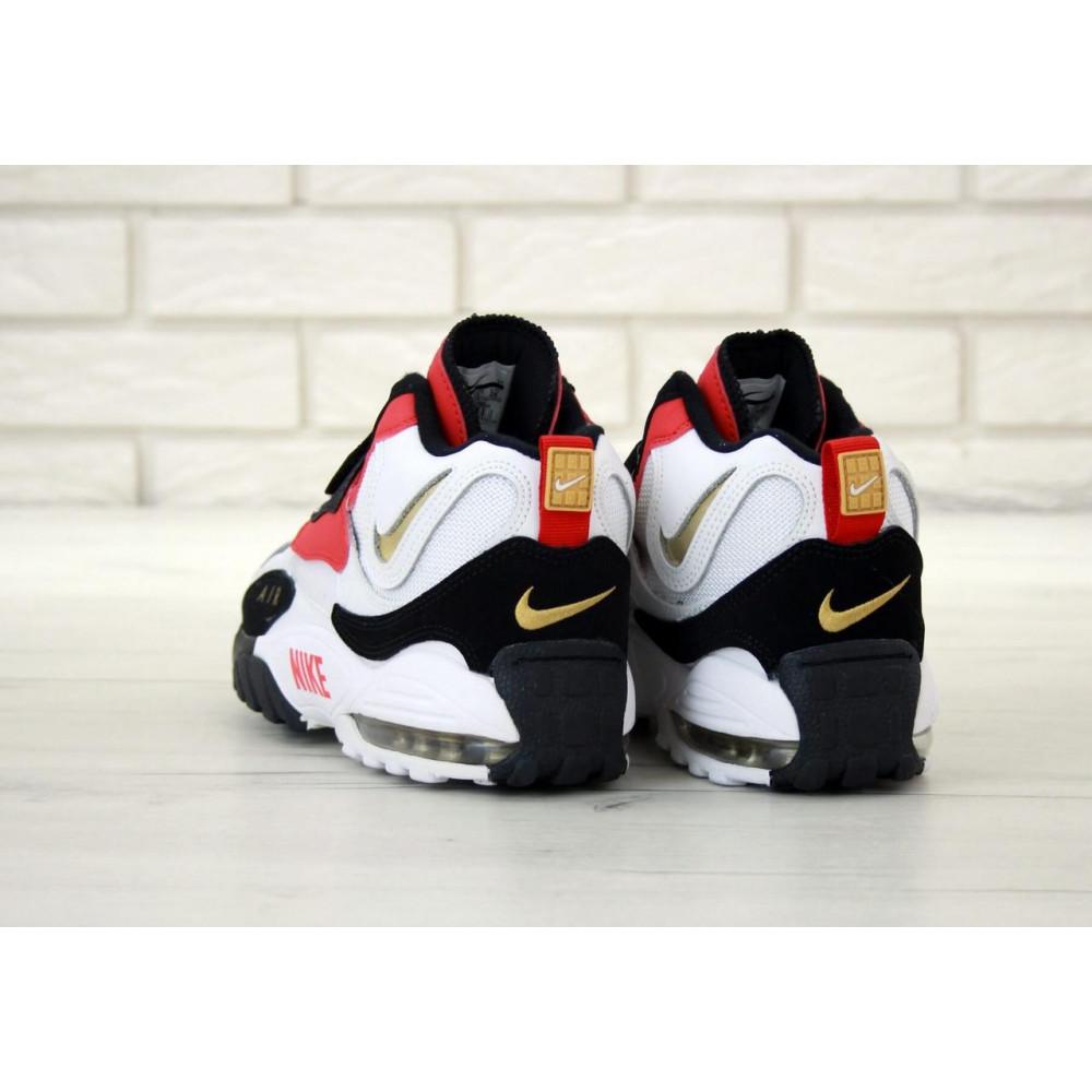 Демисезонные кроссовки мужские   - Мужские кроссовки Air Max Speed Turf черно-бело-красные 5
