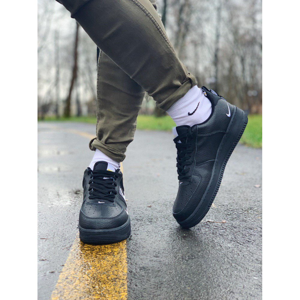 Демисезонные кроссовки мужские   - Кроссовки натуральная кожа Nike Air Force Найк Аир Форс (41,42,43,44,45) 5