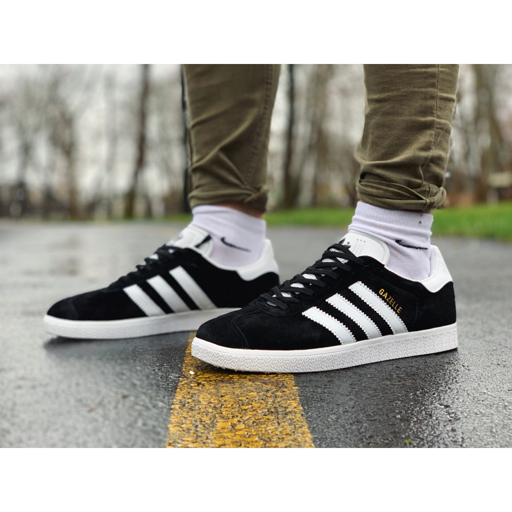 Демисезонные кроссовки мужские   - Кроссовки  натуральная замша Adidas Gazelle Адидас Газель (41,42,43,44,45)