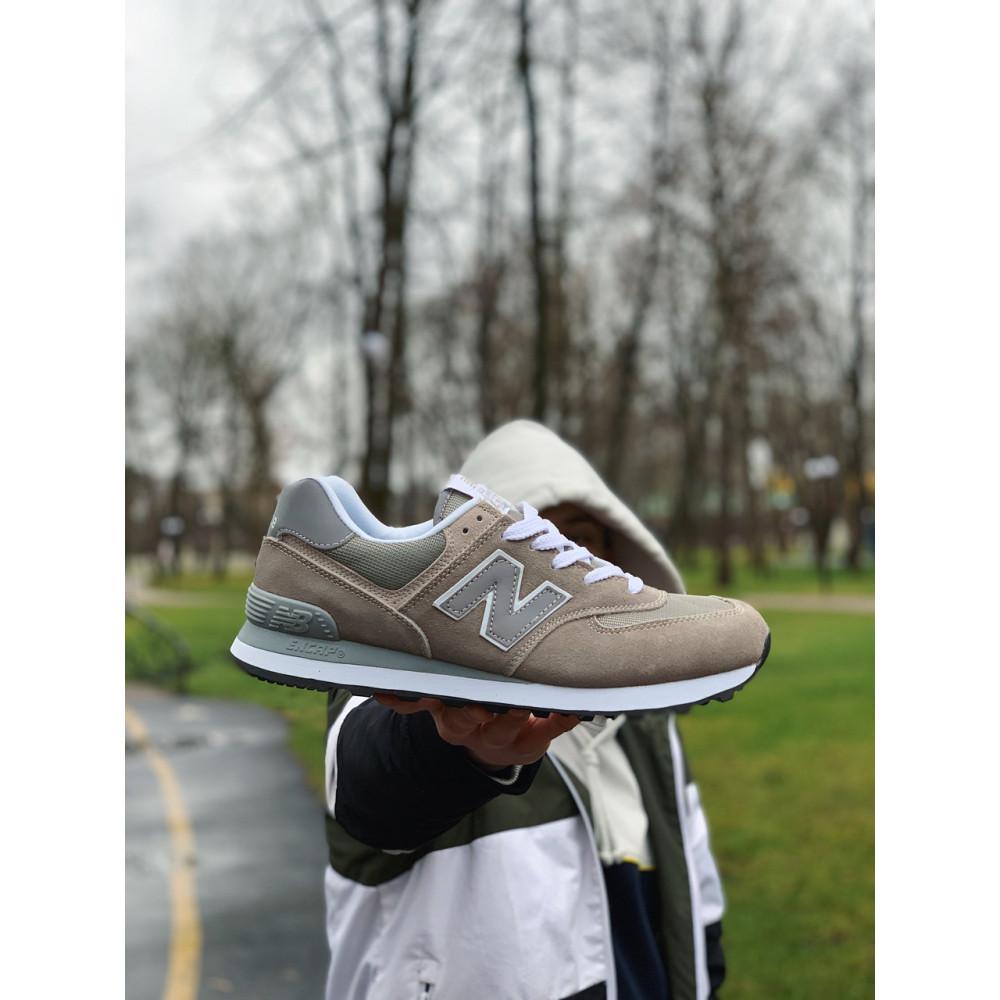 Демисезонные кроссовки мужские   - Кроссовки натуральная замша New Balance 574  Нью Беланс (41,42) 9