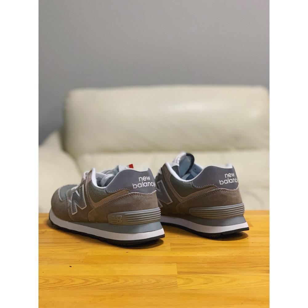 Демисезонные кроссовки мужские   - Кроссовки натуральная замша New Balance 574  Нью Беланс (41,42) 3