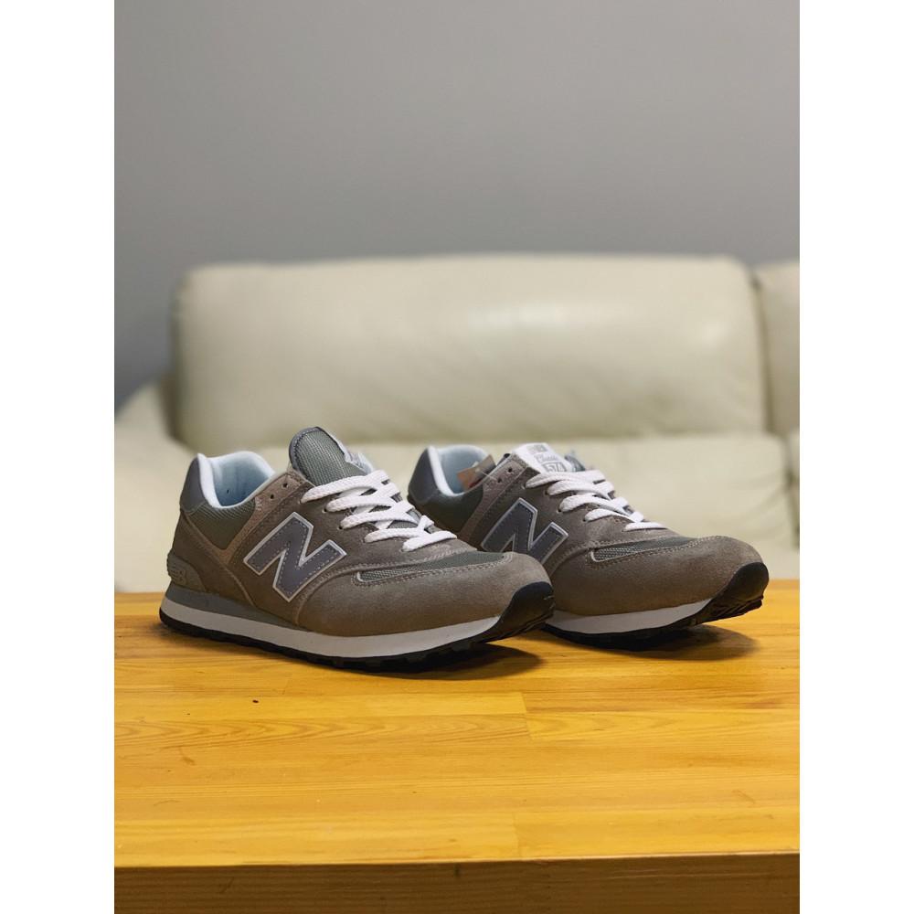 Демисезонные кроссовки мужские   - Кроссовки натуральная замша New Balance 574  Нью Беланс (41,42) 4