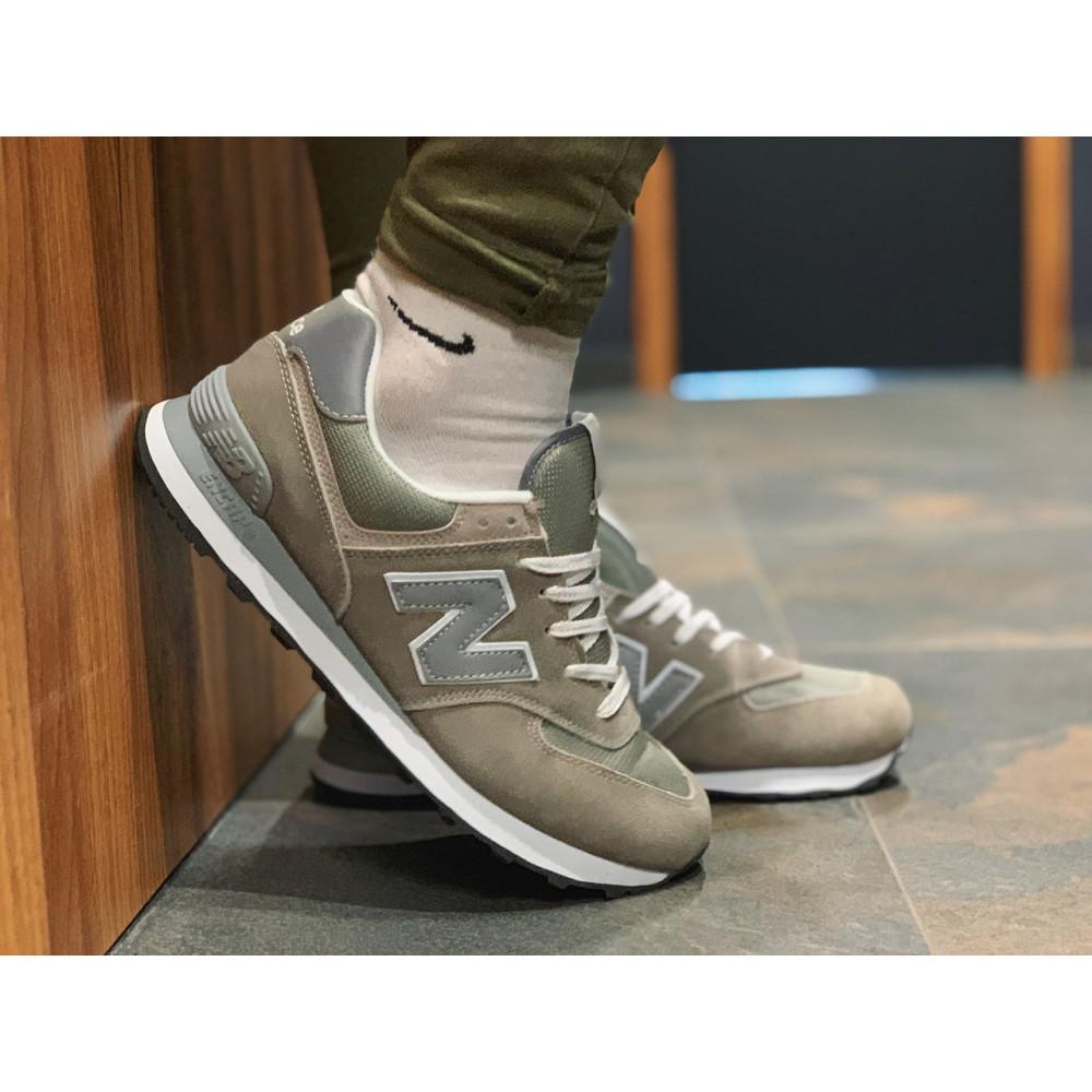 Демисезонные кроссовки мужские   - Кроссовки натуральная замша New Balance 574  Нью Беланс (41,42) 1