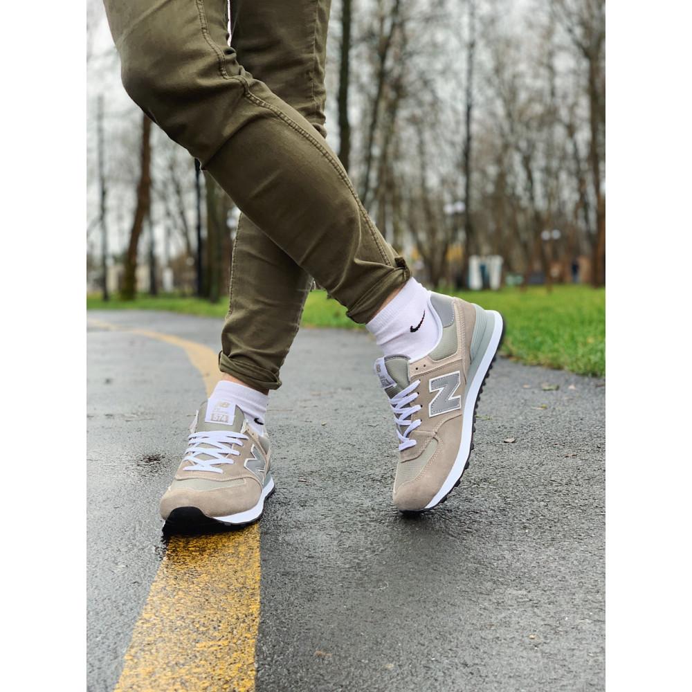 Демисезонные кроссовки мужские   - Кроссовки натуральная замша New Balance 574  Нью Беланс (41,42) 6
