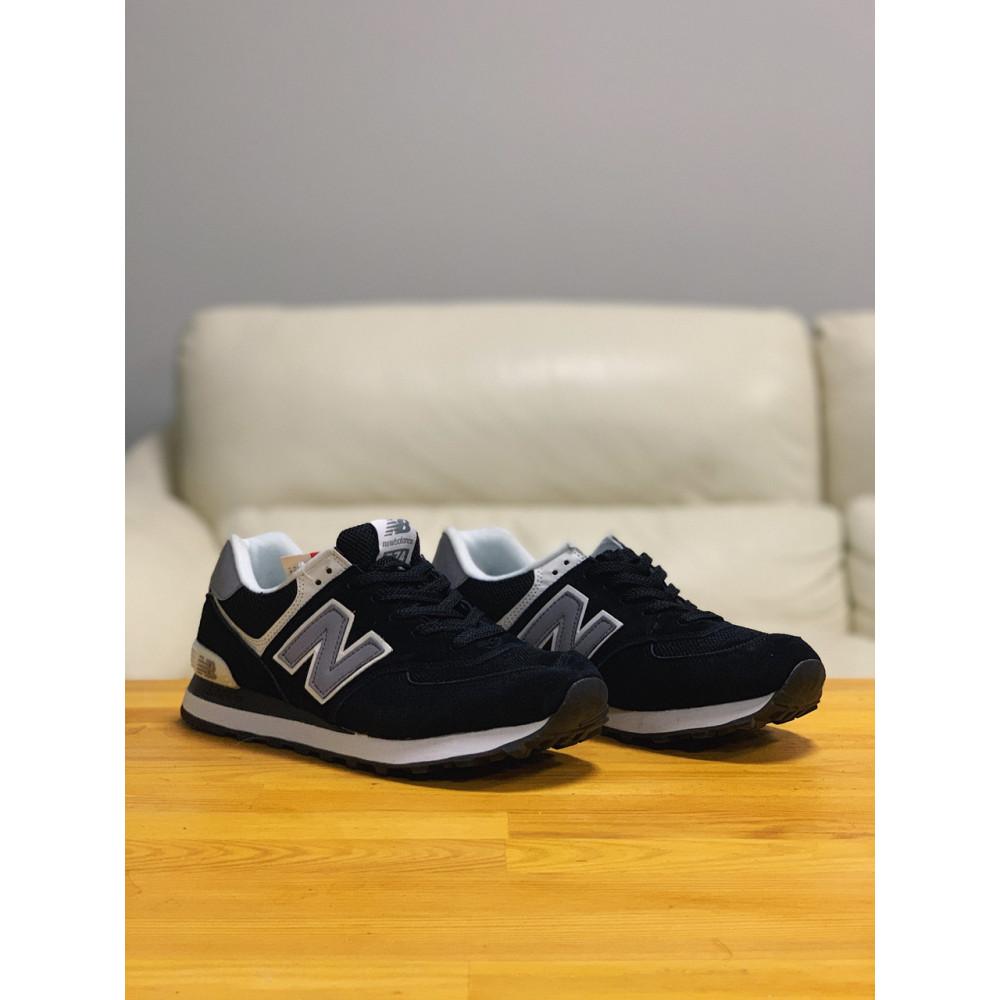 Демисезонные кроссовки мужские   - Кроссовки натуральная замша New Balance 574  Нью Беланс (41,42,43,44) 4