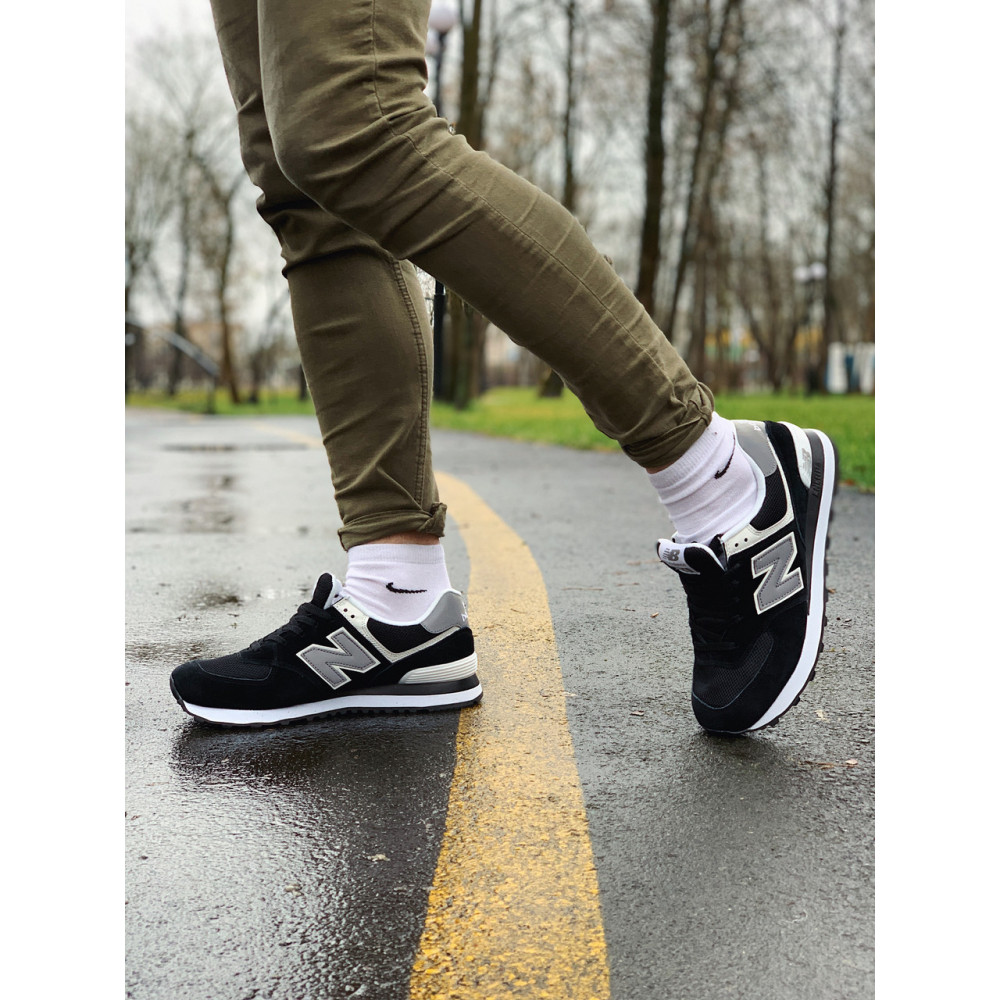 Демисезонные кроссовки мужские   - Кроссовки натуральная замша New Balance 574  Нью Беланс (41,42,43,44) 1