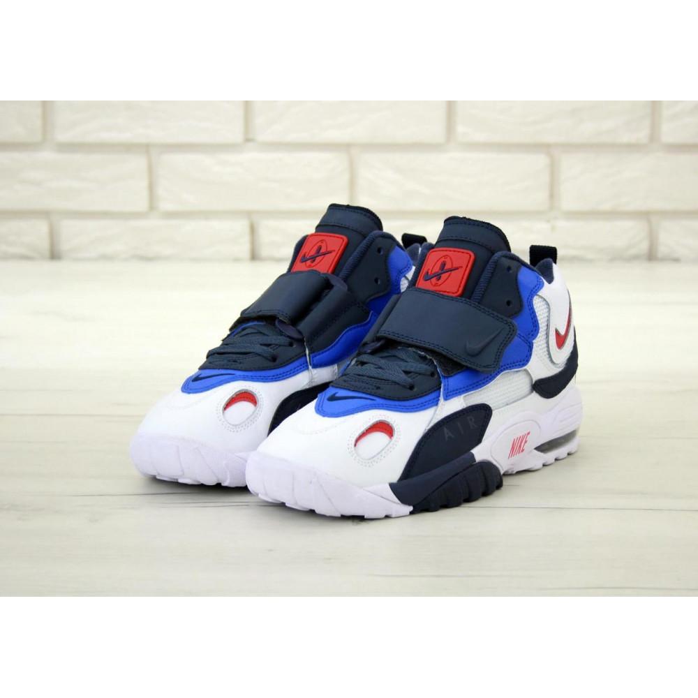 Демисезонные кроссовки мужские   - Мужские кроссовки Nike Air Max Speed Turf в бело-синем цвете 3