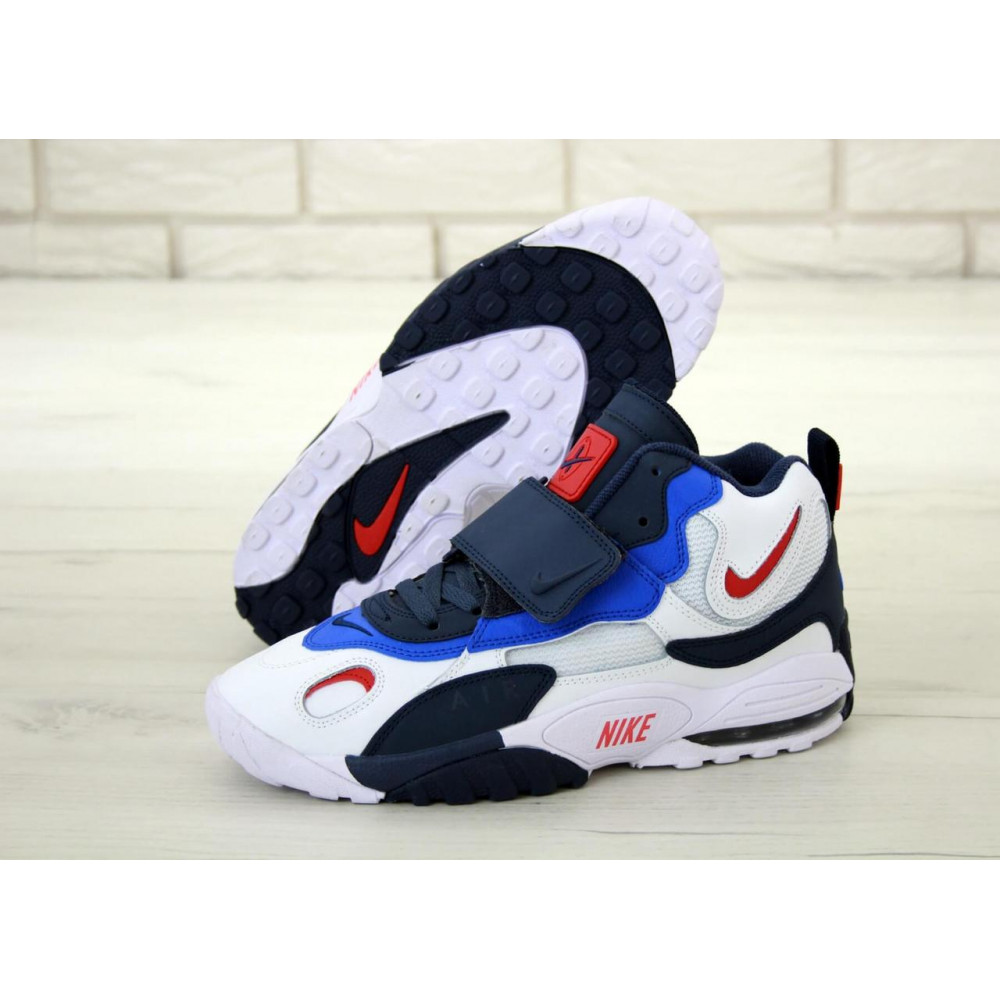 Демисезонные кроссовки мужские   - Мужские кроссовки Nike Air Max Speed Turf в бело-синем цвете 2