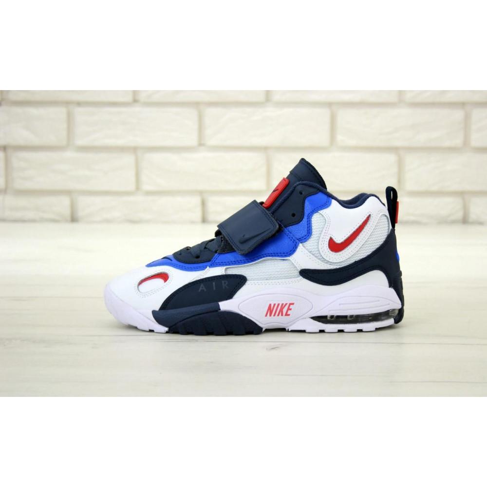 Демисезонные кроссовки мужские   - Мужские кроссовки Nike Air Max Speed Turf в бело-синем цвете 1