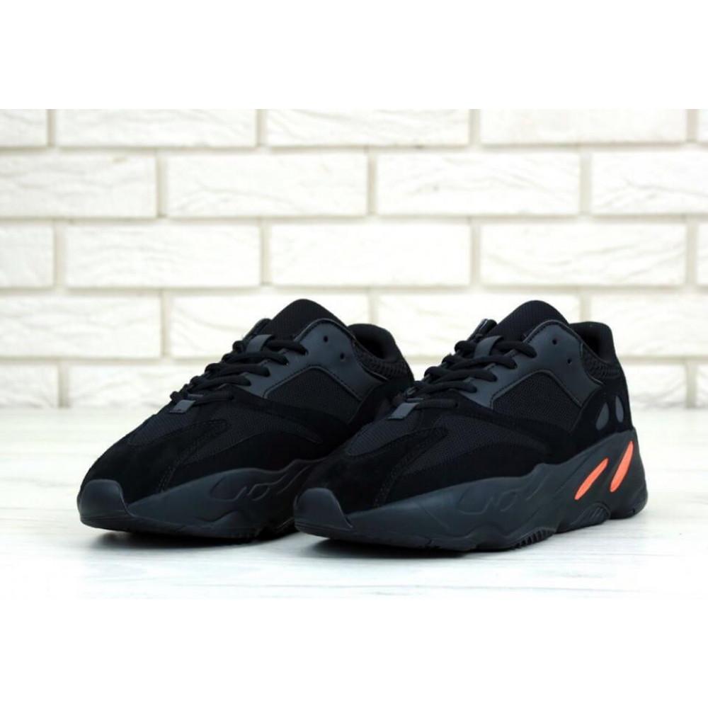 Беговые кроссовки мужские  - Мужские черные кроссовки Adidas Yeezy Boost 700 Wave Runner 1