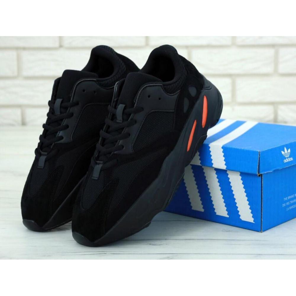 Беговые кроссовки мужские  - Мужские черные кроссовки Adidas Yeezy Boost 700 Wave Runner