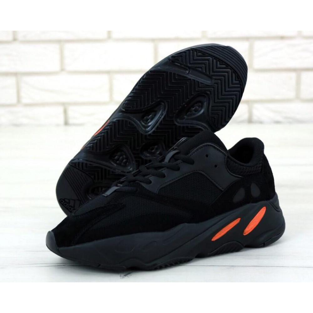 Беговые кроссовки мужские  - Мужские черные кроссовки Adidas Yeezy Boost 700 Wave Runner 4
