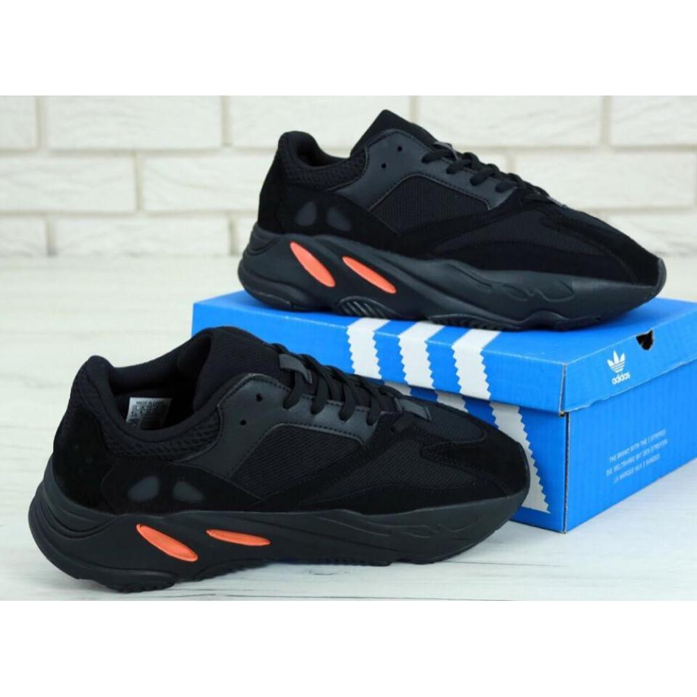 Беговые кроссовки мужские  - Мужские черные кроссовки Adidas Yeezy Boost 700 Wave Runner 3