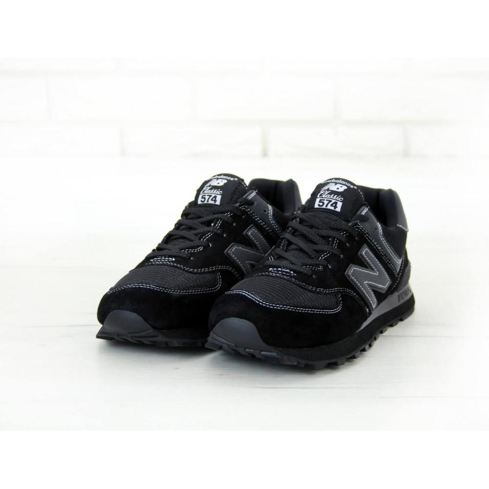Кроссовки - Мужские черные кроссовки New Balance 574 4