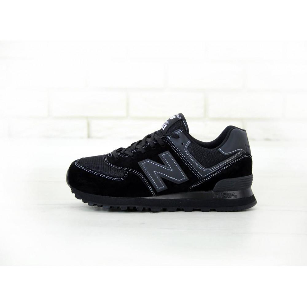 Кроссовки - Мужские черные кроссовки New Balance 574 1