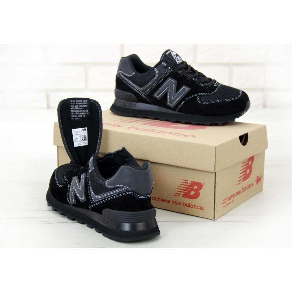 Кроссовки - Мужские черные кроссовки New Balance 574 5