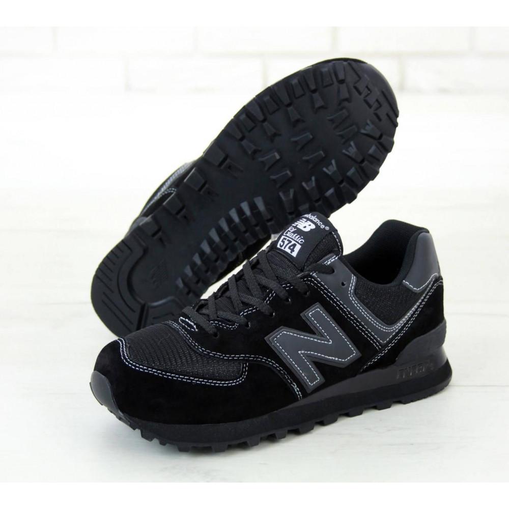 Кроссовки - Мужские черные кроссовки New Balance 574 2