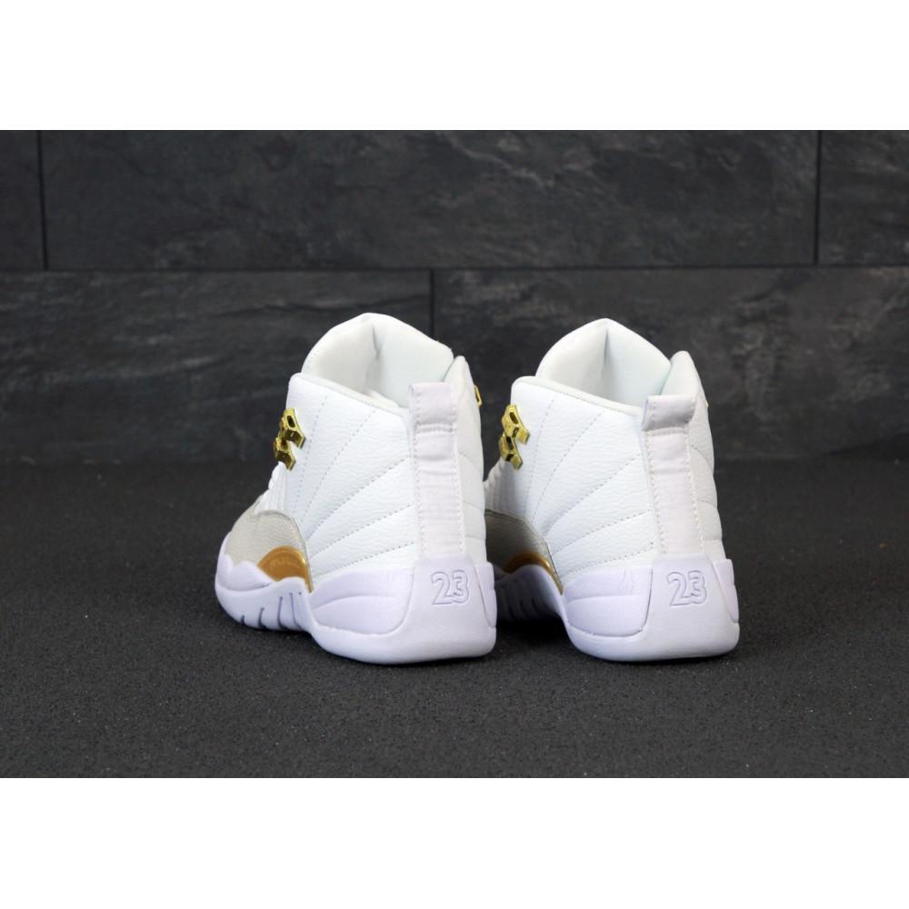 Демисезонные кроссовки мужские   - Баскетбольные кроссовки Nike Air Jordan Retro 12 в белом цвете 3