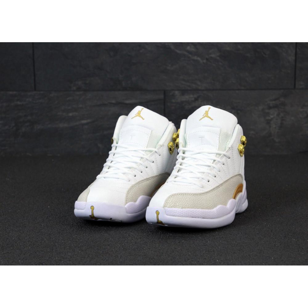 Демисезонные кроссовки мужские   - Баскетбольные кроссовки Nike Air Jordan Retro 12 в белом цвете 5