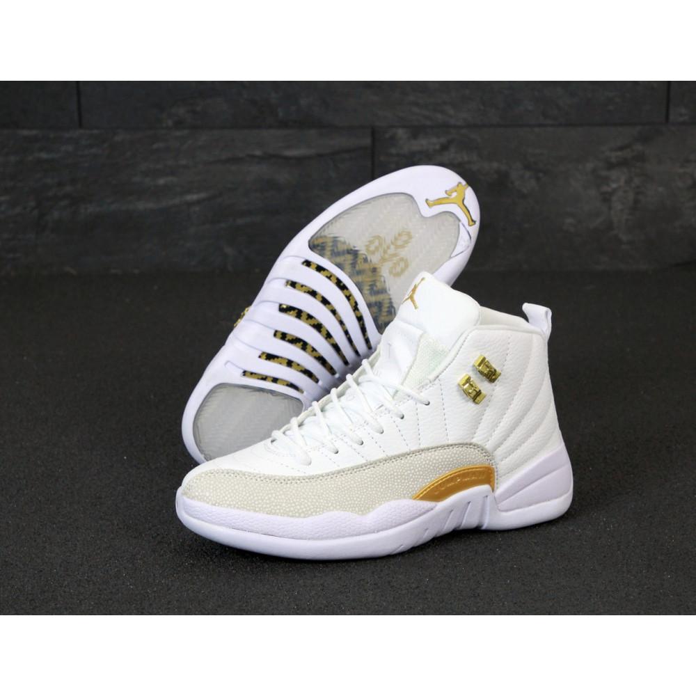 Демисезонные кроссовки мужские   - Баскетбольные кроссовки Nike Air Jordan Retro 12 в белом цвете 2