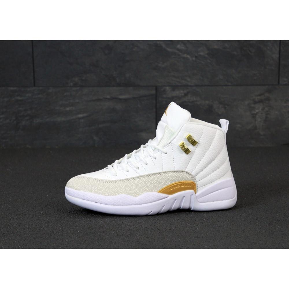 Демисезонные кроссовки мужские   - Баскетбольные кроссовки Nike Air Jordan Retro 12 в белом цвете 1