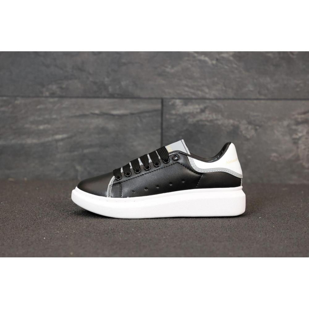 Классические кроссовки мужские - Черные кроссовки Маквин с рефлективными вставками 1