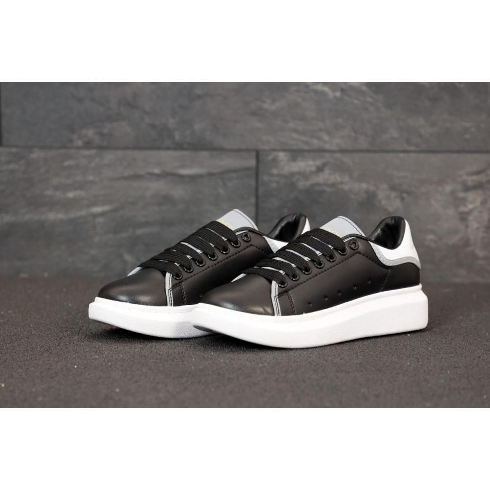 Классические кроссовки мужские - Черные кроссовки Маквин с рефлективными вставками 3