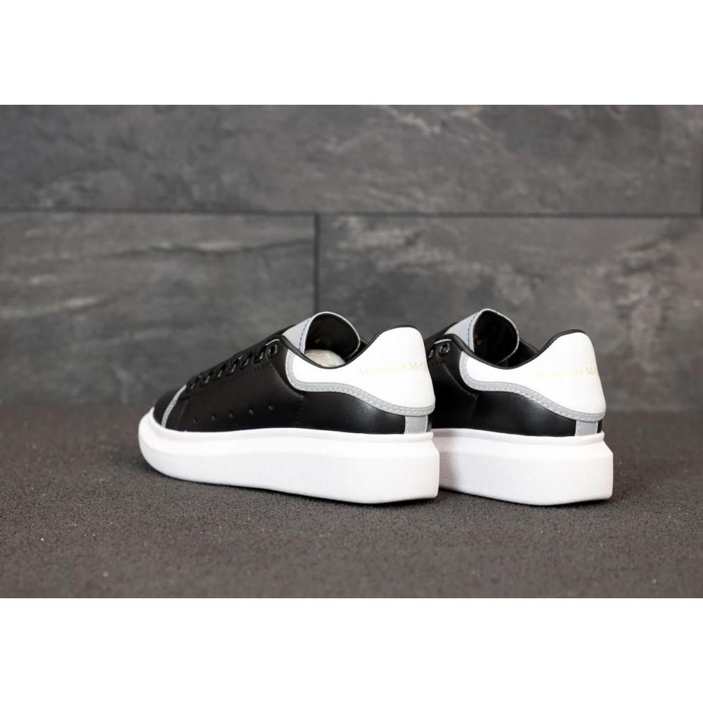 Классические кроссовки мужские - Черные кроссовки Маквин с рефлективными вставками 4