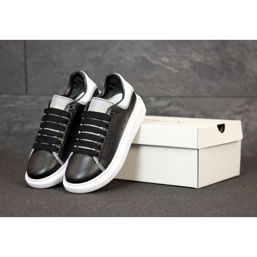 Классические кроссовки мужские - Черные кроссовки Маквин с рефлективными вставками