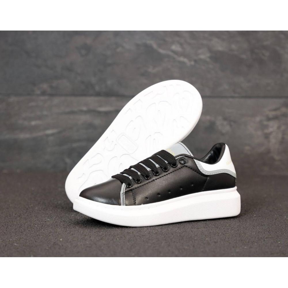 Классические кроссовки мужские - Черные кроссовки Маквин с рефлективными вставками 2
