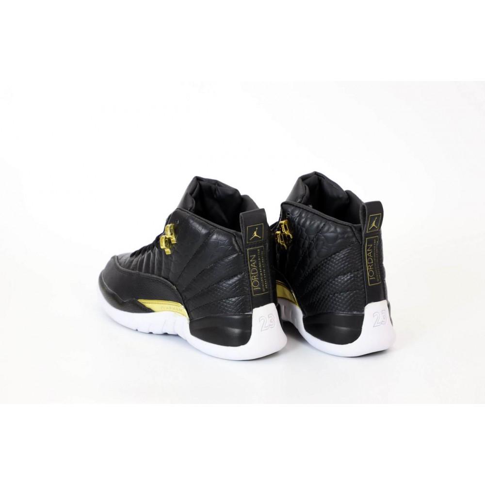 Демисезонные кроссовки мужские   - Найк Джордан Ретро 12 черного цвета 5