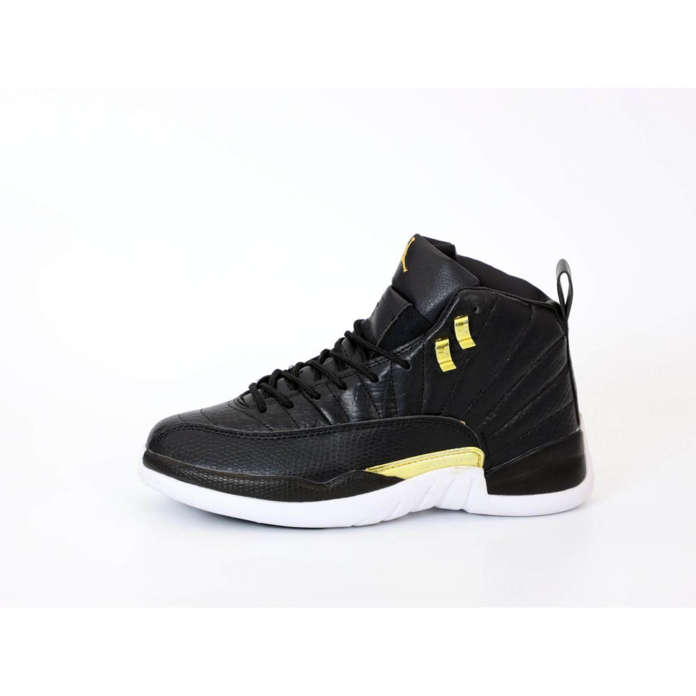 Демисезонные кроссовки мужские   - Найк Джордан Ретро 12 черного цвета 1