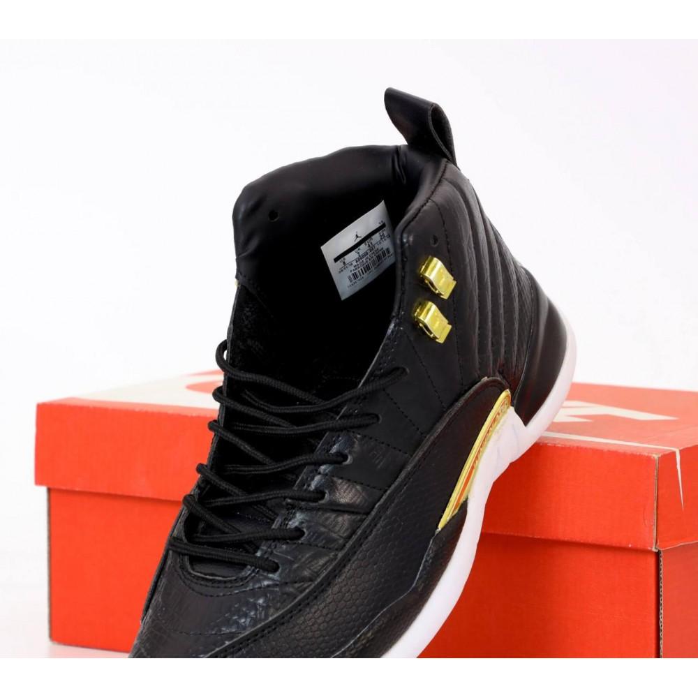Демисезонные кроссовки мужские   - Найк Джордан Ретро 12 черного цвета 4