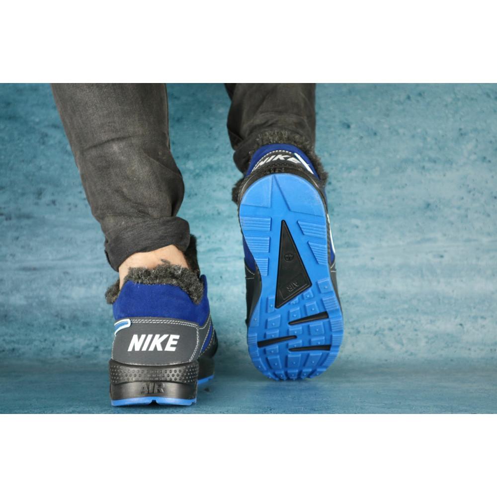 Зимние кроссовки мужские - Мужские кроссовки кожаные зимние синие-голубые CrosSAV 46 2