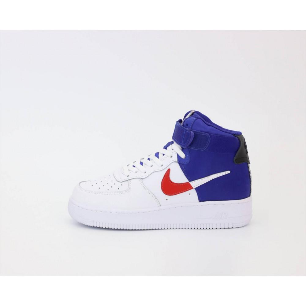 Демисезонные кроссовки мужские   - Мужские высокие кроссовки Air Force 1 Mid NBA 1