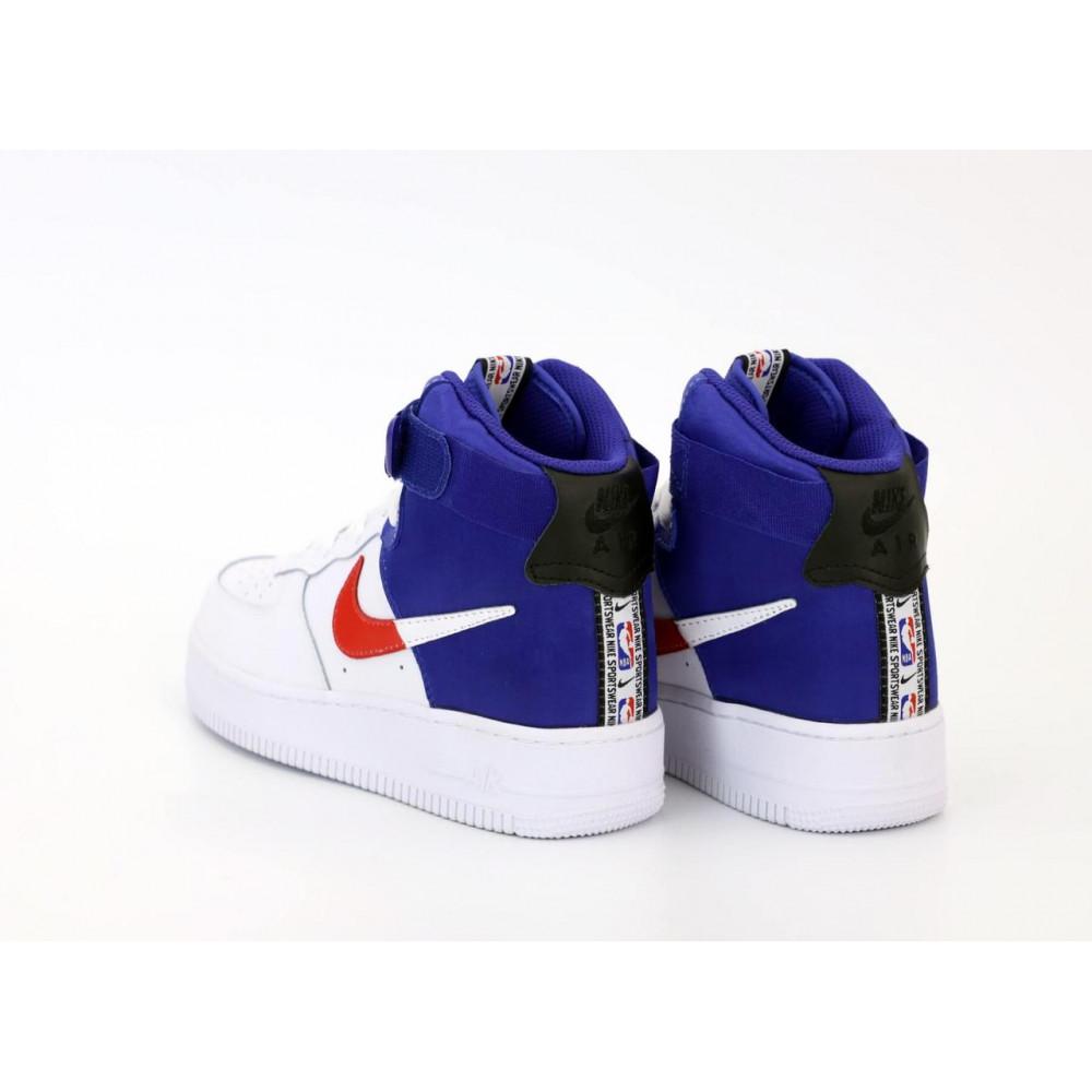 Демисезонные кроссовки мужские   - Мужские высокие кроссовки Air Force 1 Mid NBA 2
