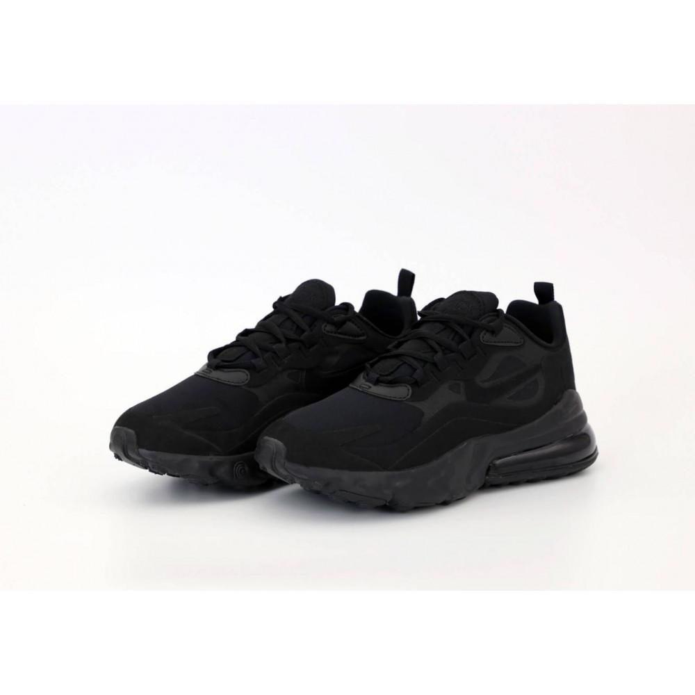 Демисезонные кроссовки мужские   - Мужские кроссовки Air Max 270 React Black 3