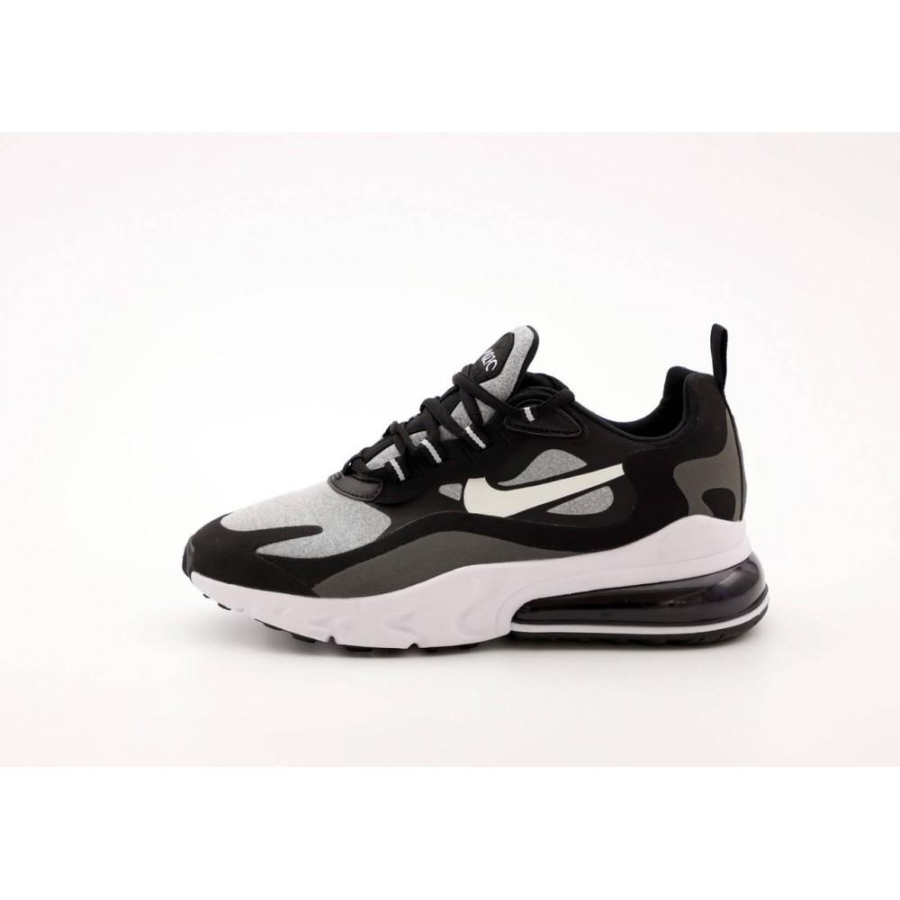Классические кроссовки мужские - Мужские кроссовки Найк Аир Макс 270 Реакт черно-серые 1