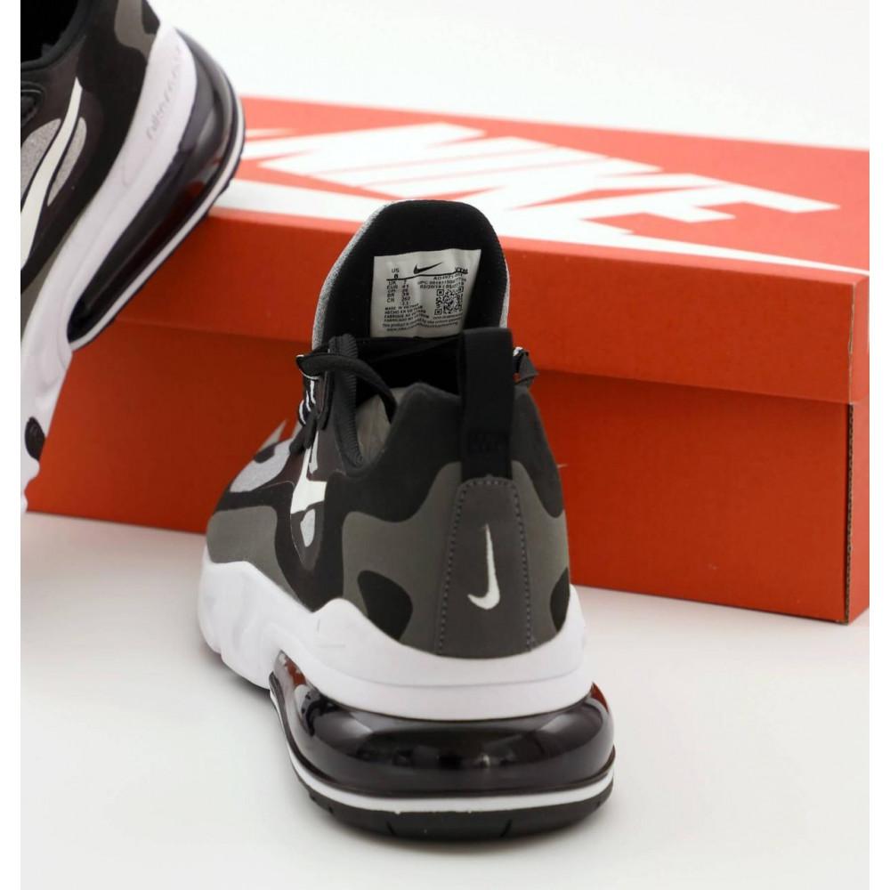 Классические кроссовки мужские - Мужские кроссовки Найк Аир Макс 270 Реакт черно-серые 5