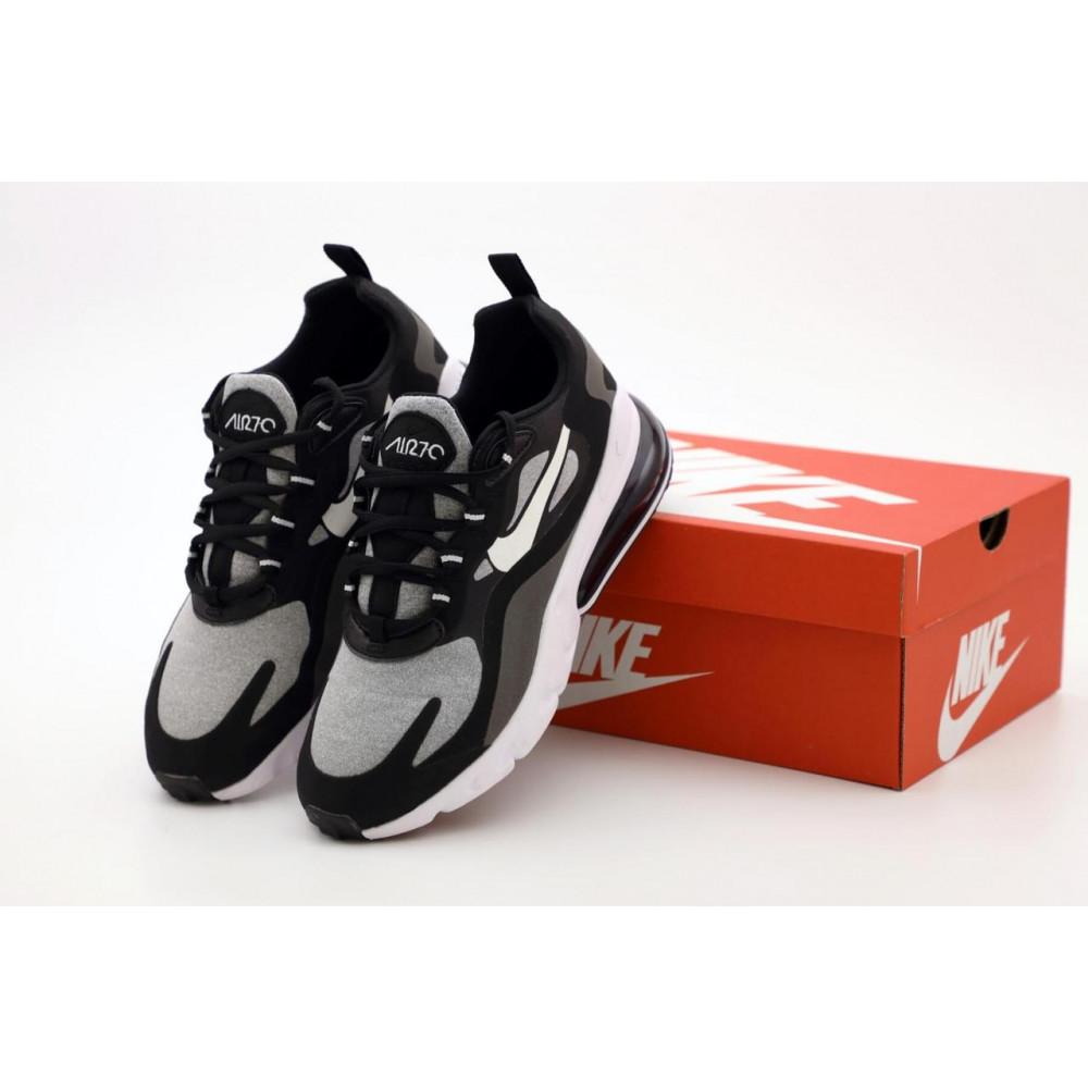 Классические кроссовки мужские - Мужские кроссовки Найк Аир Макс 270 Реакт черно-серые
