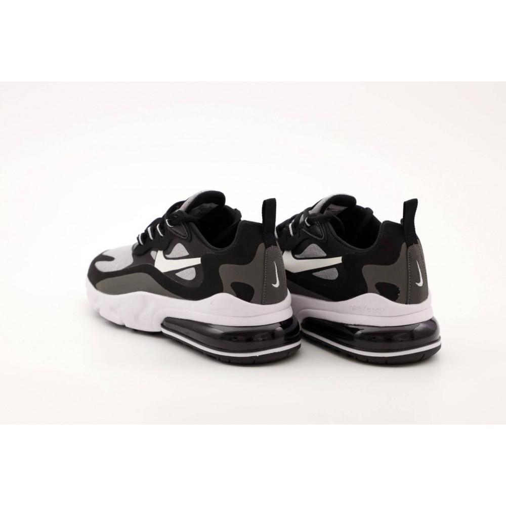 Классические кроссовки мужские - Мужские кроссовки Найк Аир Макс 270 Реакт черно-серые 4