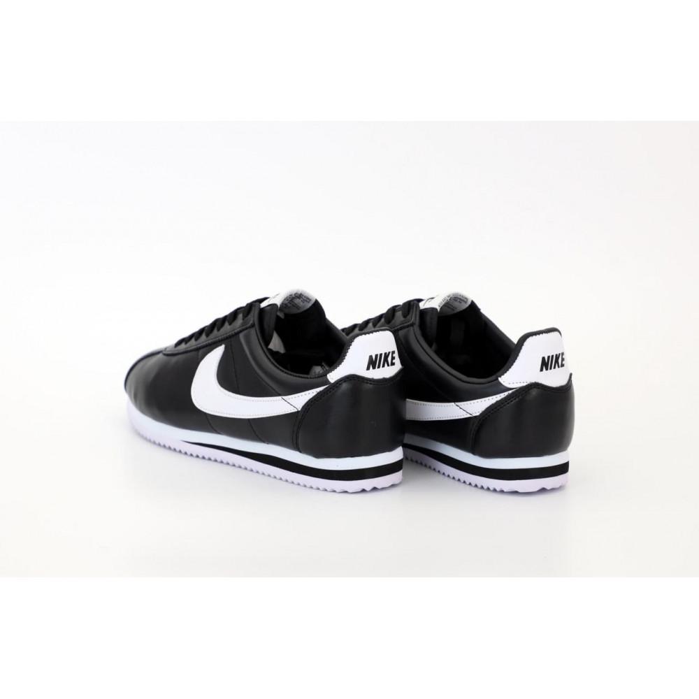 Классические кроссовки мужские - Мужские черные кожаные кроссовки Найк Кортез 3