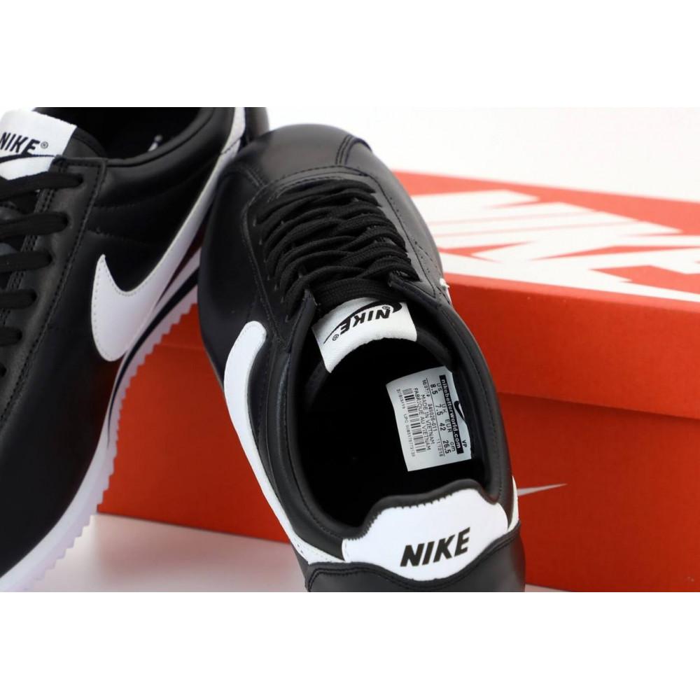 Классические кроссовки мужские - Мужские черные кожаные кроссовки Найк Кортез 5