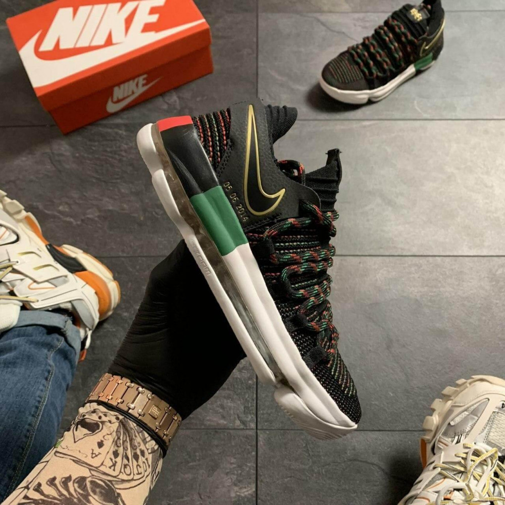 Демисезонные кроссовки мужские   - Баскетбольные кроссовки Nike KD 10 Black 9