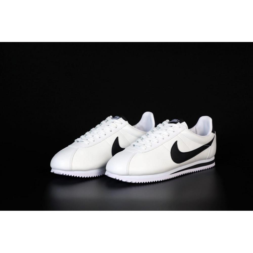 Кожаные кроссовки мужские - Белые кожаные кроссовки Nike Cortez Leather 7