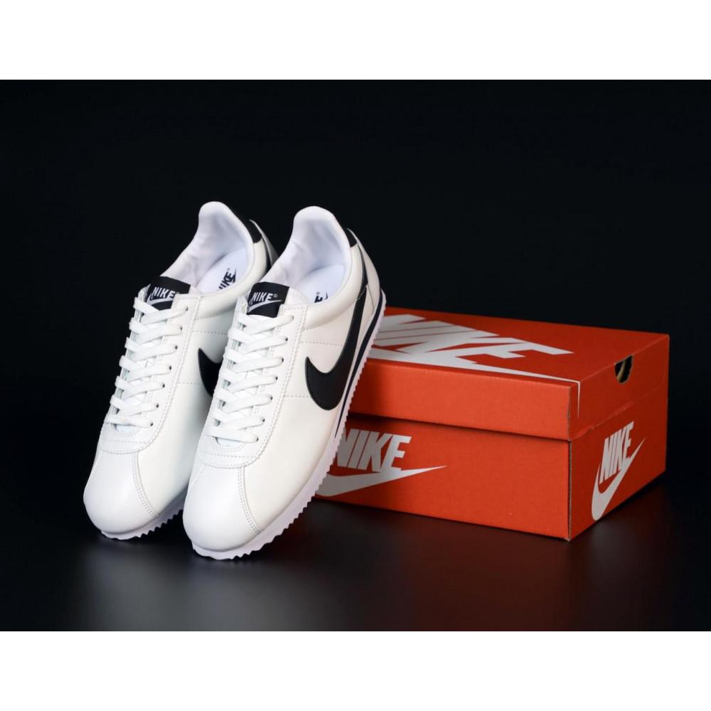 Кожаные кроссовки мужские - Белые кожаные кроссовки Nike Cortez Leather