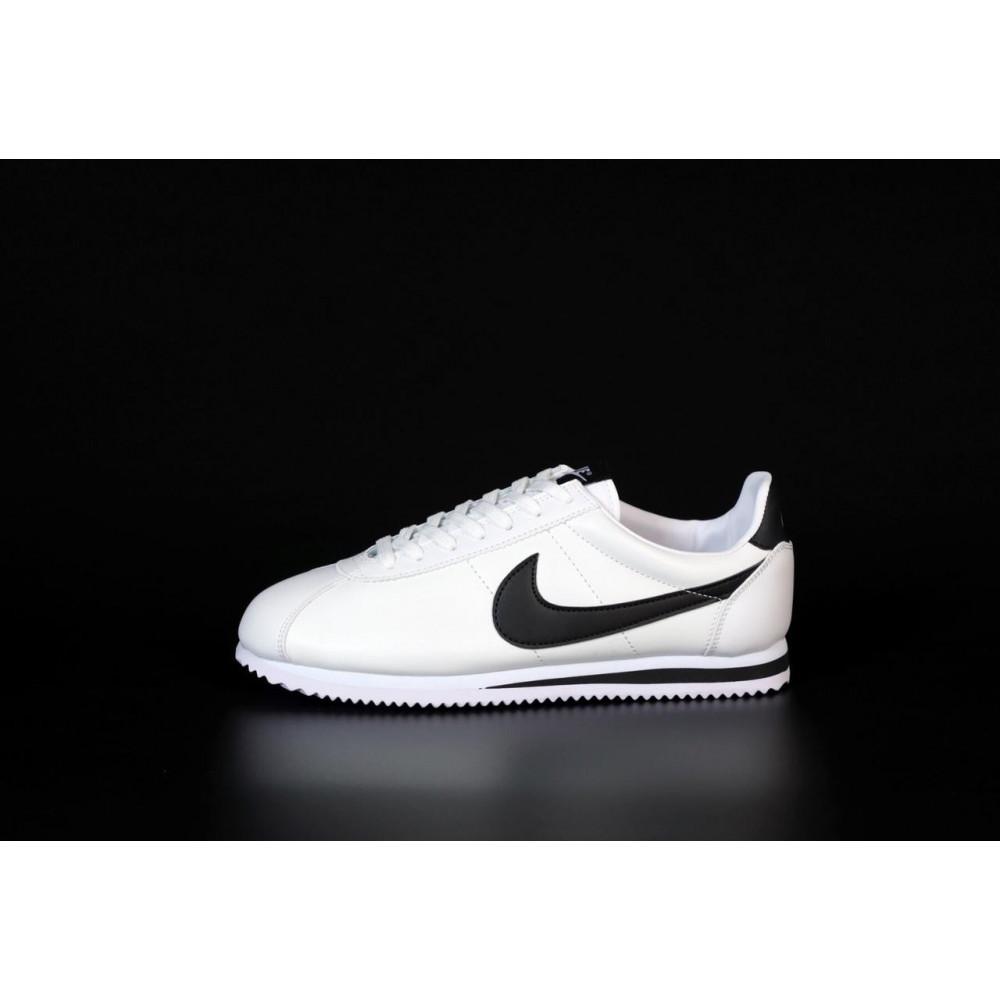 Кожаные кроссовки мужские - Белые кожаные кроссовки Nike Cortez Leather 8