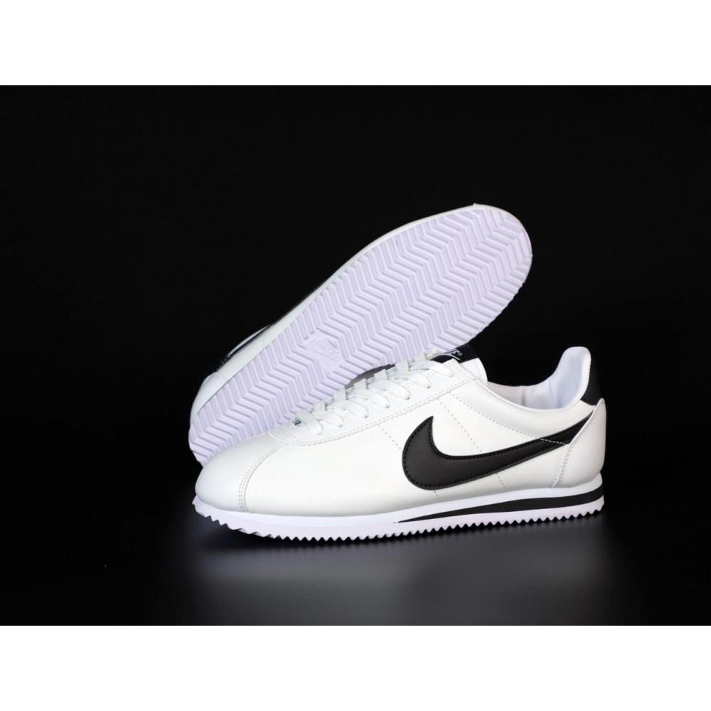 Кожаные кроссовки мужские - Белые кожаные кроссовки Nike Cortez Leather 6
